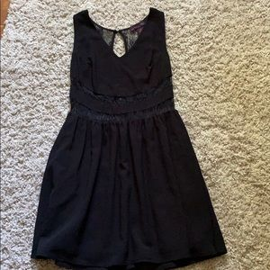 Black Material Girl dress with lace details